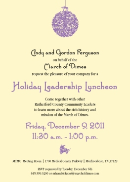 Health Services' March for Babies Holiday Leadership Luncheon